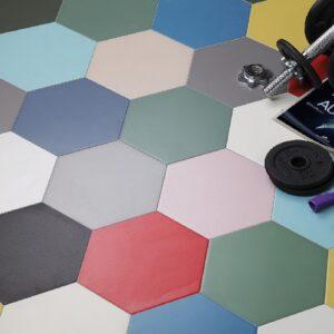 Carrelage Hexagonal multicolore