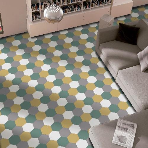 PURE Hexagonal multicolore Ambiance 4