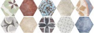 Carrelage hexagonal Tunis - Mix 20 formats