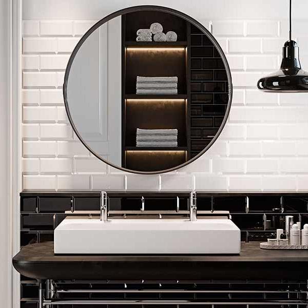 Métro White and Black 10x20cm Ambiance 1