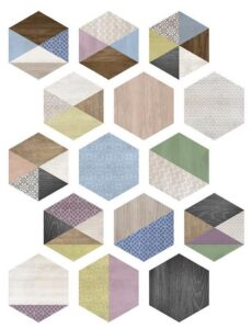 Carrelage en couleur NEW ART style ART DECO - Ambiance 1