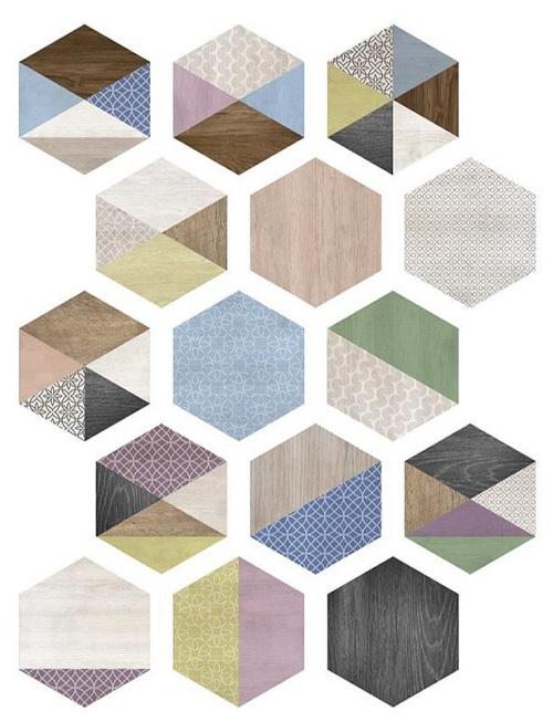 NEW ART carrelage en couleur – les 16 motifs